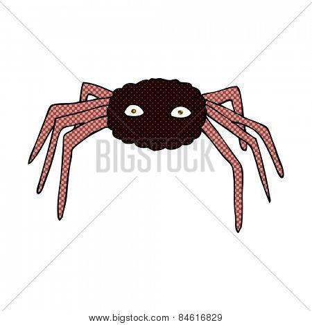 retro comic book style cartoon spider