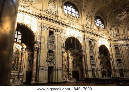 The inside of the Church of San Filippo Neri, Turin
