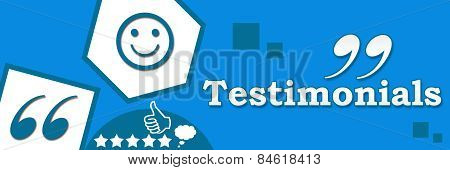 Testimonials Abstract Blue Banner