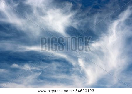 Overcast sky background.