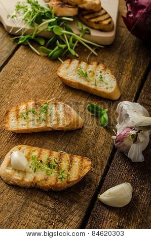 Garlic Toast Toasted Panini