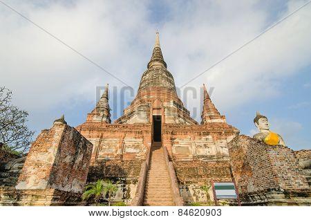 Wat Yai Chaimongkol In Ayutthaya Historical Park, Ayutthaya, Thailand