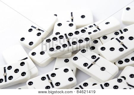 Dominoes tiles laying flat