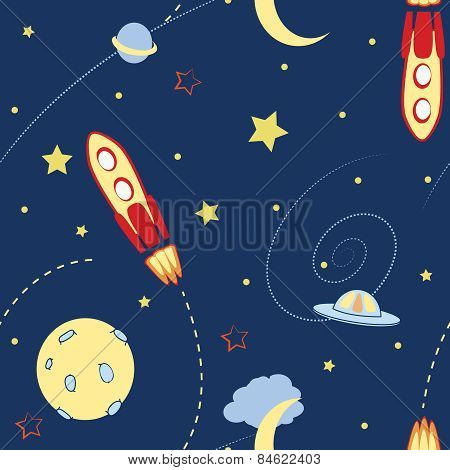 space seamless pattern eps10