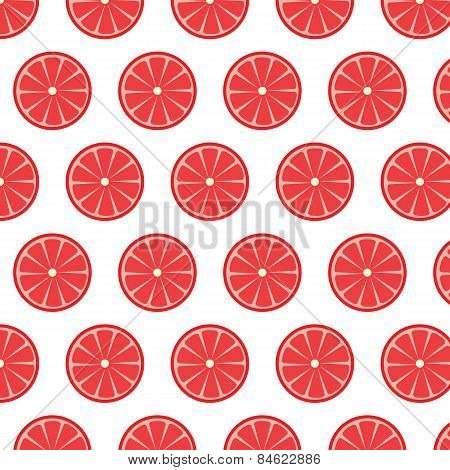 Seamless Pattern With Grapefruits