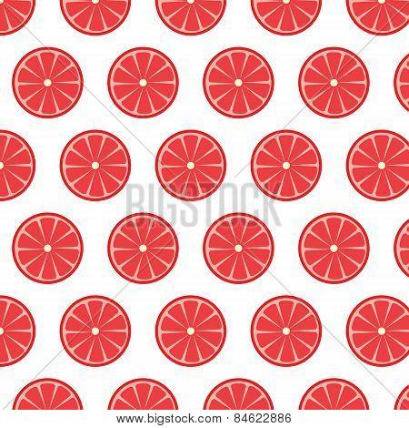Seamless Pattern With Grapefruits