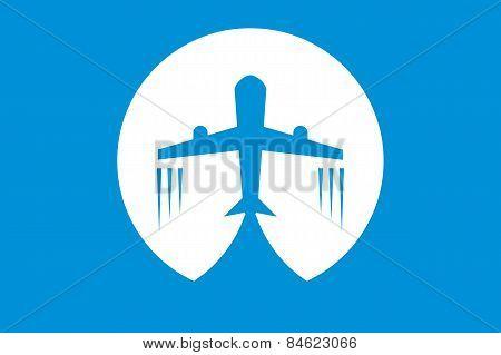 Vector Icon Airplane Travel Tourism Logo