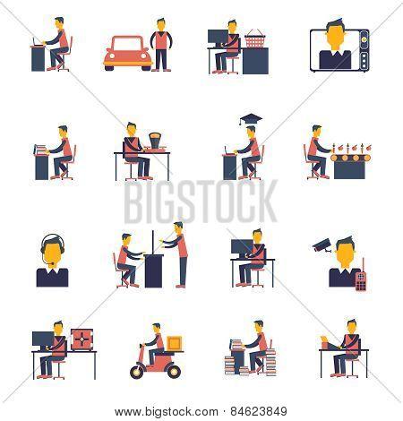 Sedentary Icon Flat