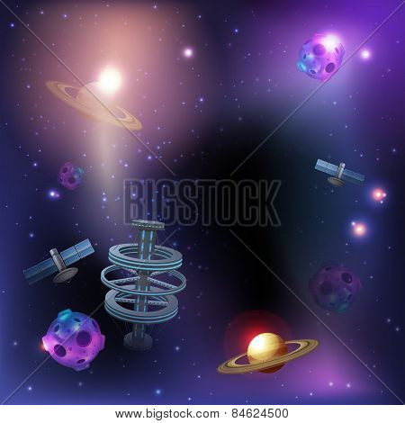 Space Dark Background