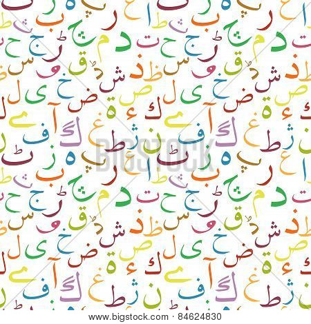 Urdu letters seamless pattern