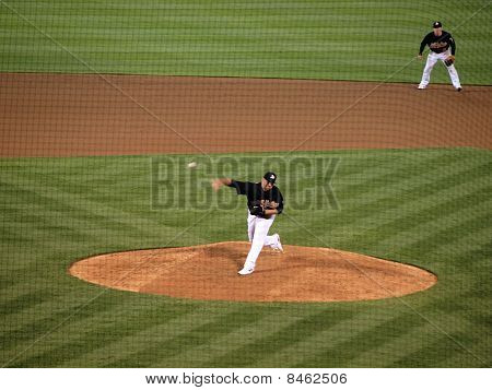 Athletics Boof Bonser Throws A Fastball In A Late Inning