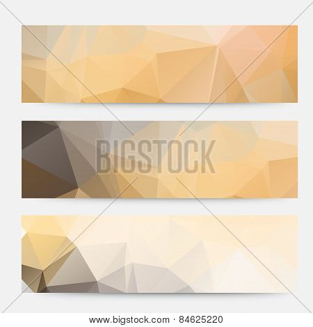 banner vector geometric triangle.polygonal banners design template.