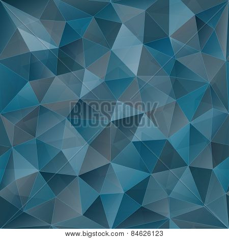 Blue Low Poly Seamless Background. Vector EPS10.
