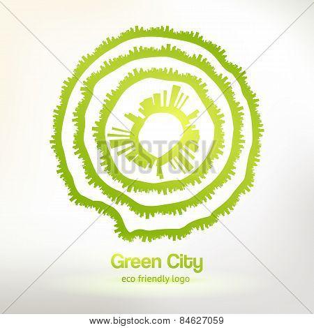 Eco friendly urban logo