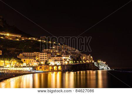 Night View Of Amalfi