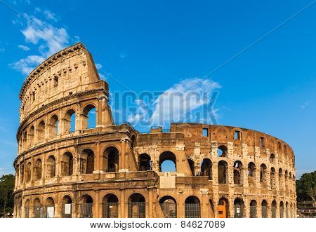 Exterior View Of Colosseum In Rome