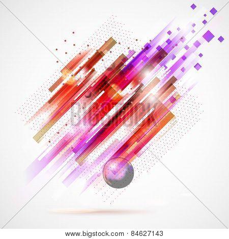 Abstract pink technology modern geometric spot