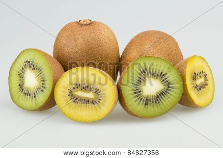 Green and yellow kiwi