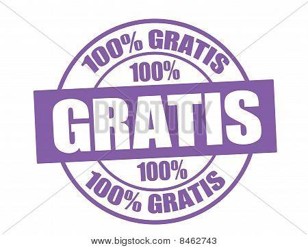 100% Gratis stamp