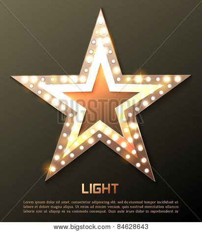 Star retro light banner.