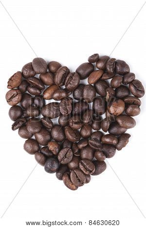 Isolated Coffee Heart