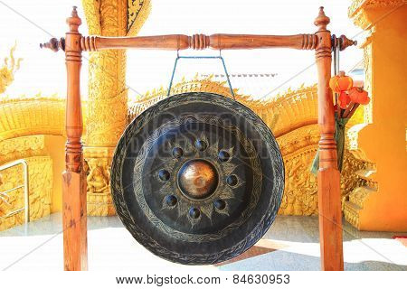 gong at Thai temple