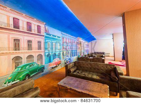 Lobby in casino interior