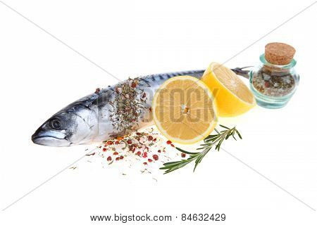 Raw Fish With Lemon And Rosemary