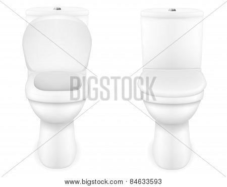 toilet bowl vector illustration