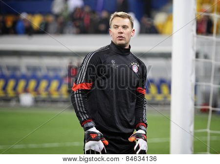 Goalkeeper Manuel Neuer Of Bayern Munich