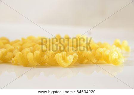Raw Yellow Macaroni