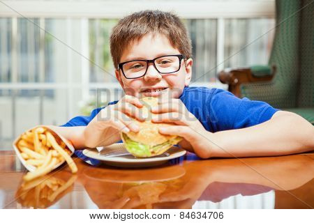 Kids Love Burgers And Fries
