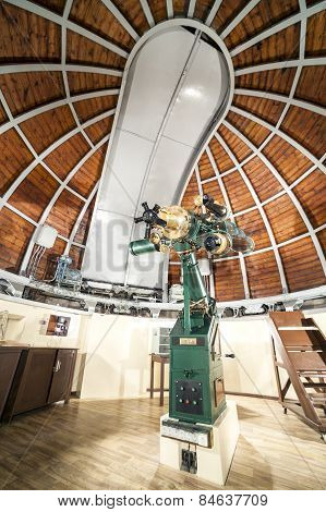 Astronomy Telescope In An Astronomical Observatory.