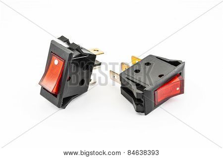 Red Rocker Switches With Light