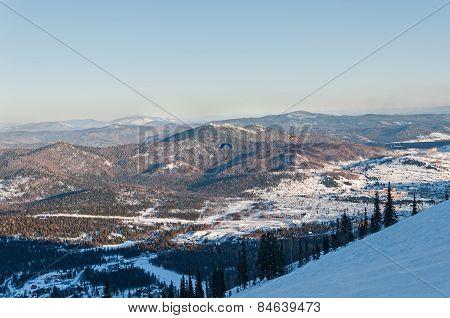 Ski Slopes Mountain Winter Panorama