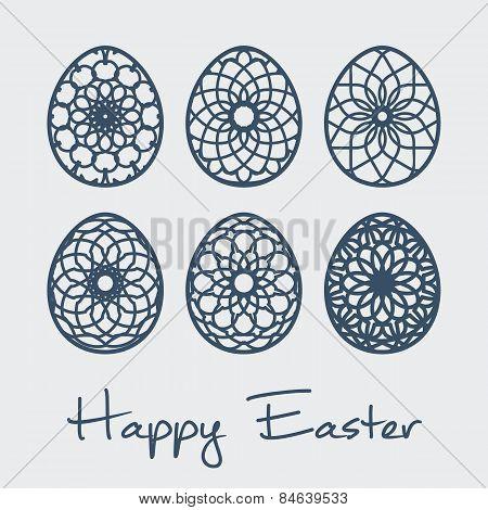 Easter ornamental eggs