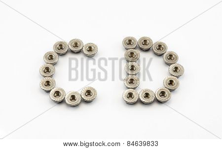 C And D Alphabet, Created By Stainless Steel Hex Flange Nuts