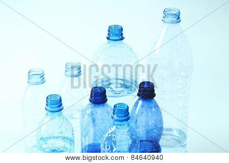 Recycle. Used bottles of water