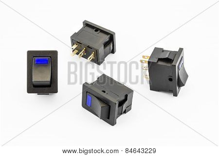 Blue Rocker Switches With Build-in Led