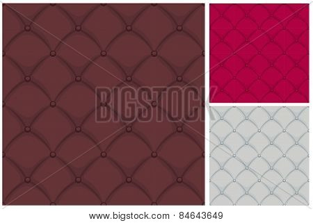 Chesterfield Leather Upholstery Quilted With Buttons Seamless Pattern Repeat