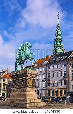 The Equestrian Statue Of Absalon, Copenhagenv