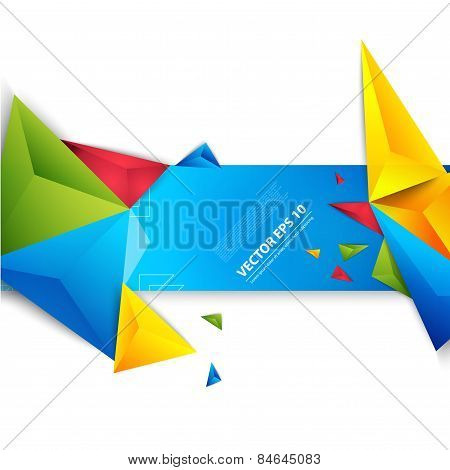 Vector color background abstract polygon triangle.