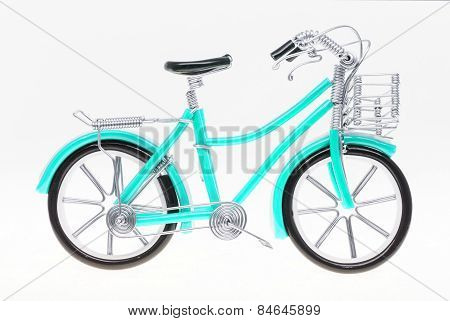 Aqua Handmade Bicycle Figure