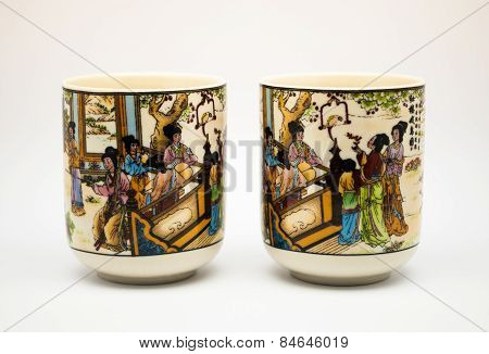 Couple Of Ancient Ceramic Chinese Teacups