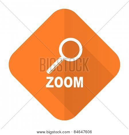zoom orange flat icon