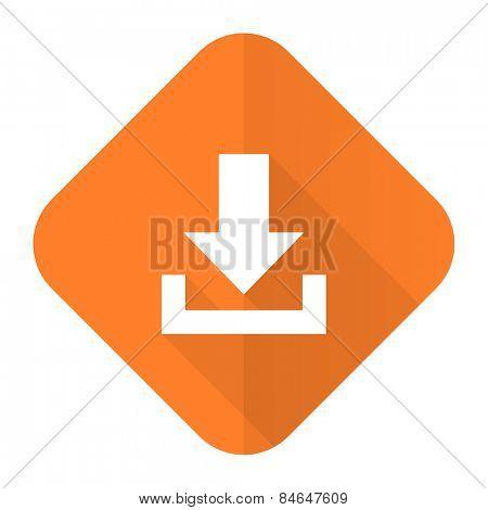 download orange flat icon