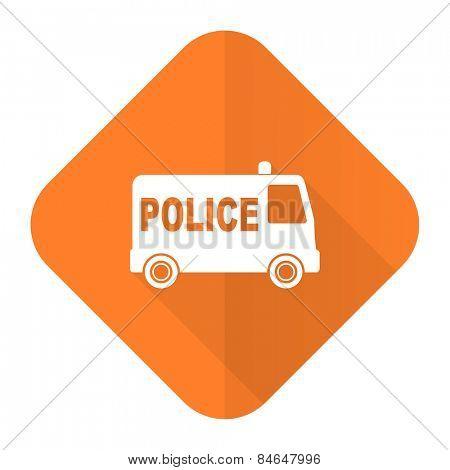 police orange flat icon