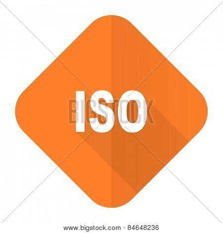 iso orange flat icon