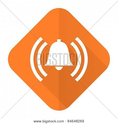 alarm orange flat icon alert sign bell symbol