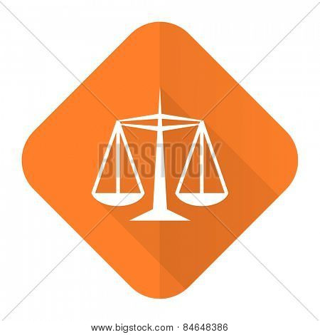 justice orange flat icon law sign